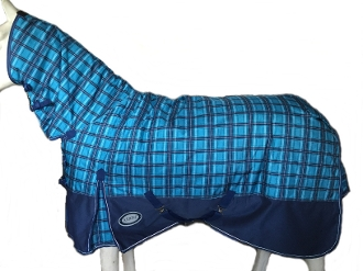 AXIOM 1800D Ballistic Nylon Blue Check 300g Combo Blanket