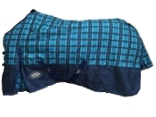 AXIOM 1800D Ballistic Nylon Blue Check 300g Reg Blanket